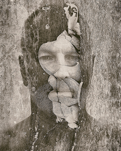 abstract face photograph